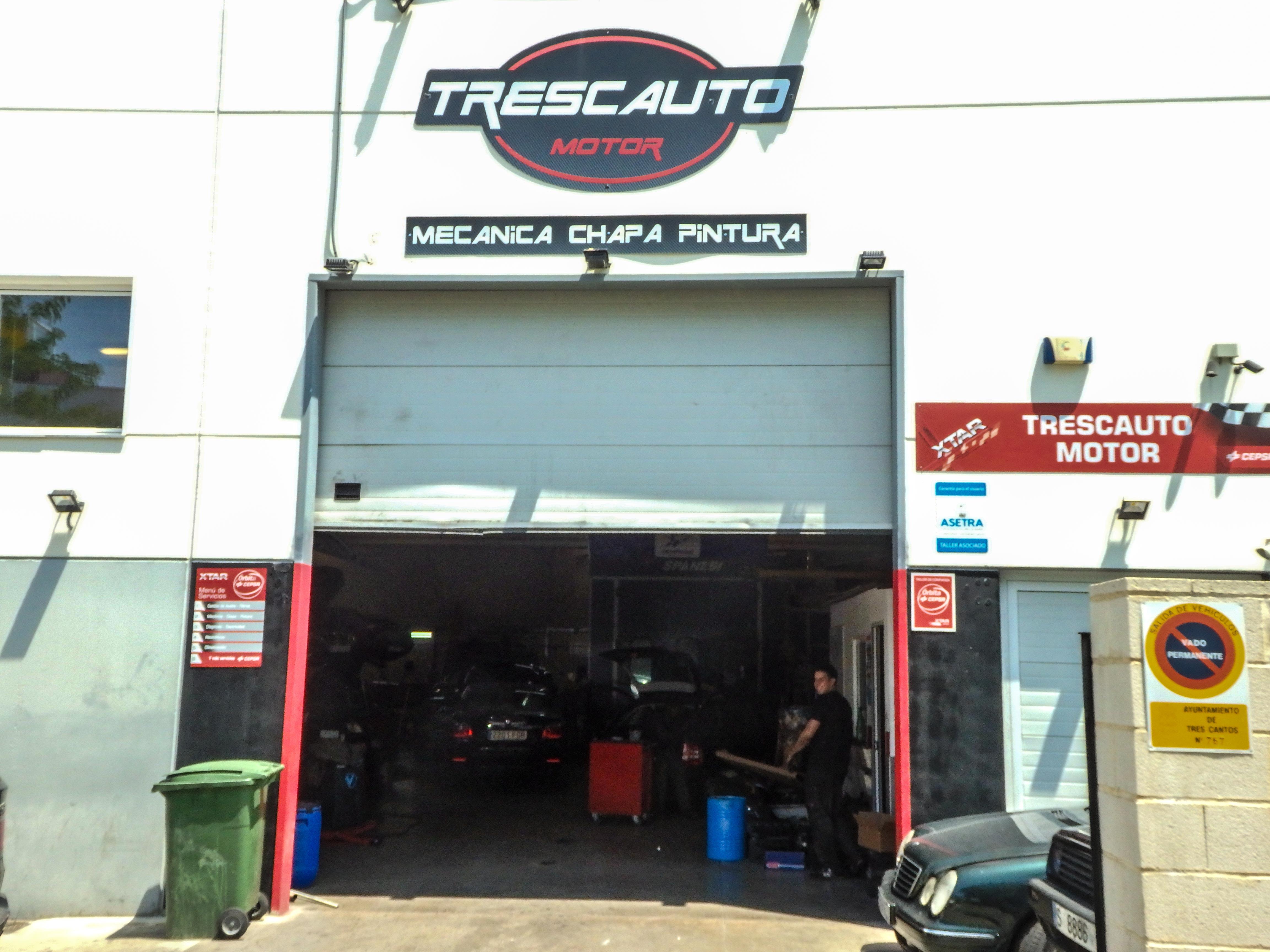 Trescauto motor taller mecanico y de pintura en tres cantos - Fachadas de talleres ...